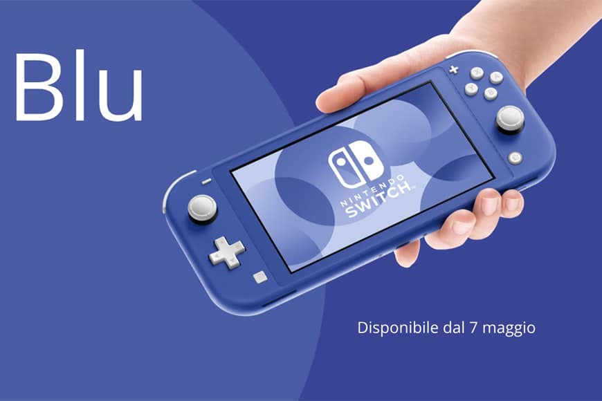 Nuova nintendo switch lite BLU