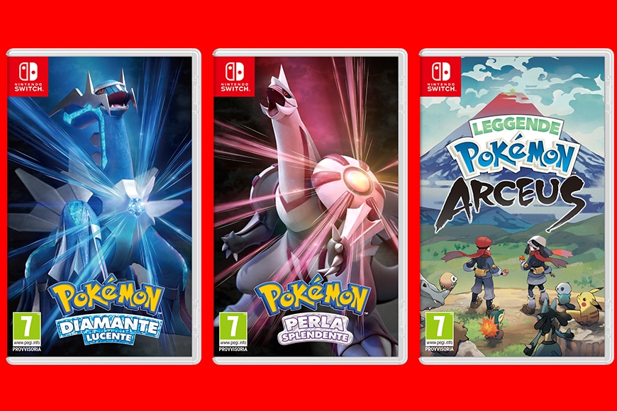 Annunciate le date di distribuzione di Leggende Pokémon: Arceus, Pokémon Diamante Lucente e Pokémon Perla Splendente